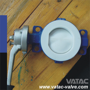 Cl150/Ans 150# PTFE/PFA Lined Cast Steel A216 Wcb Butterfly Valve pictures & photos