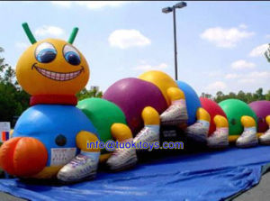 Huge Commercial Inflatable Toy with Tunnel Bouncer Obstacle (B097) pictures & photos