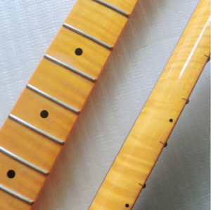 22 Fret Finished One Piece Flamed Maple Strat Guitar Neck pictures & photos