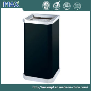 Color Powder Coated Open Cover Dustbin pictures & photos