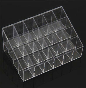 2016 Top Sale Clear Acrylic 24 Lipstick Holder Display Stand Cosmetic Organizer Makeup Case Lip Holder pictures & photos