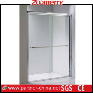Anodized Aluminum Profiles Rollaway Shower Screen with Guide Rails (NMR6122) pictures & photos