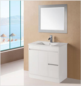 White Glossy Wooden MDF Bathroom Vanity with Soft Close (JADA-600) pictures & photos