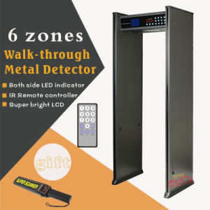 Security Walk Through Metal Detector, 6 Zones Door Frame Metal Detector pictures & photos