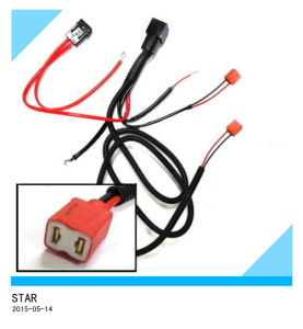 H1 H3 H7 Relay Wiring Harness for HID Conversion Kit Add on LED Fog Lights Wire Harness pictures & photos