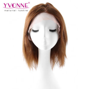 Color #4 Yaki Brazilian Human Hair Full Lace Wig pictures & photos