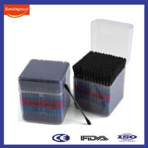 Black Color Ear Cotton Wool Swab in Cute PP Box pictures & photos