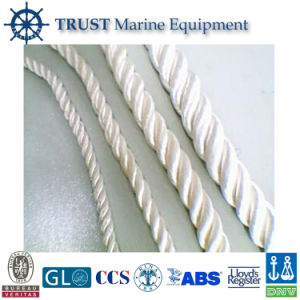 Marine Mooring 3 Strand Polyester/Cotton Braided Rope pictures & photos