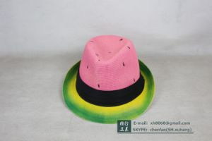 Trilby Paper Straw Hat (XH-PA2112) pictures & photos