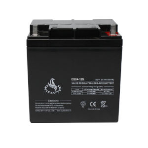 12V 24ah AGM UPS Storage Sealed Lead Acid Battery with Ce pictures & photos