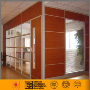 Wood / HPL Finish + Glass Office Partition Wall pictures & photos