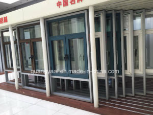Champagne Gloden Aluminium Casement Window with Screen pictures & photos