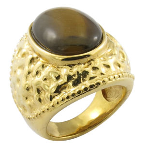 Dubai Style Big Stone Brass Ring pictures & photos