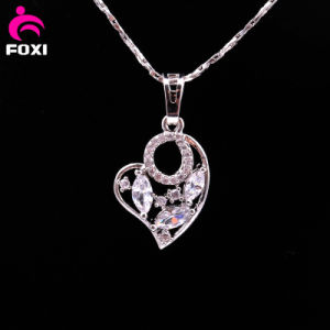 Fashion White Gold Brass Heart Shape Pendant pictures & photos