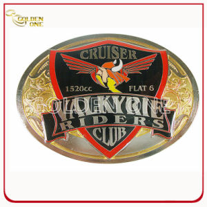 Customized Two Tone Finish & Color Fill Metal Belt Buckle pictures & photos