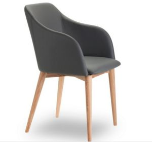 2016 Modern Style Grey Dining Chair with Ashwood Leg (DC019) pictures & photos