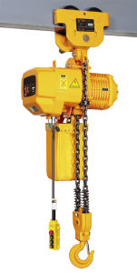 CE Certified 1t Electric Chain Hoist with Manual Trolley pictures & photos