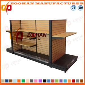 New Customized Supermarket Wooden Metal Store Shelving (Zhs267) pictures & photos