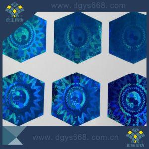 Custom Shape Blue Color Laser Sticker pictures & photos