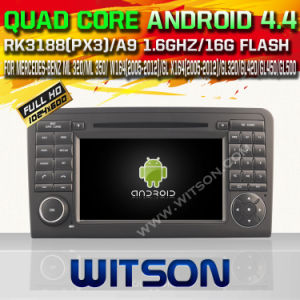 Witson Android 4.4 Car DVD for Mercedes-Benz Ml 350/Gl X164 (W2-A6558) with Chipset 1080P 8g ROM WiFi 3G Internet DVR Support pictures & photos