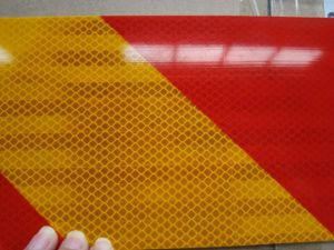 Reflective Sheet Film Sign for Truck Tail Warning Marking Reflective Tape Vehicle Sticker Vehicle Tail Sign Board for Dangerous Material Vehicles pictures & photos