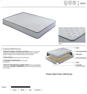 Compressed Sponge Pocket Spring Royal Coil Mattress