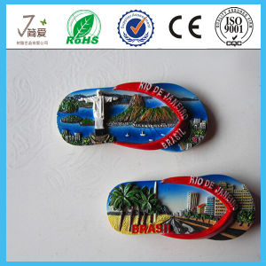 Factory Cheap Hand Painted Custom Resin Shoe Shaped Fridge Magnets pictures & photos