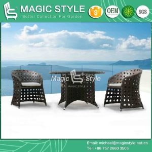 New Design Wicker Dining Set Rattan Chair Coffee Set Outdoor Dining Set Garden Wicker Round Table (Magic Style) pictures & photos