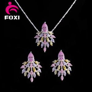 Three Color Women Cloth Accessories Gold Plated Fashion CZ Jewelry Sets pictures & photos