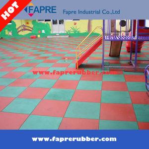Rubber Tiles/Interlock Rubber Tiles/Rubber Gym or Playground Tiles pictures & photos
