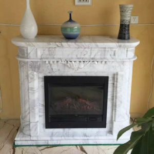 Modern Style Volakas White Marble Stone Fireplaces pictures & photos