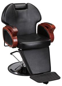 Solid Wood Armrest Reclining Cheap Portable Barber Chair pictures & photos