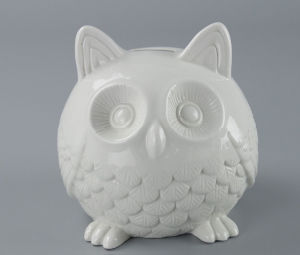 Cute Ceramic Owl Coin Bank Wholesale pictures & photos