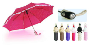 DOT Print&Skirt 3 Fold Auto Open Umbrellas (YS-3FA22083280R) pictures & photos