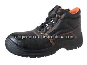 Split Embossed Leather Safety Shoes with Mesh Lining (HQ01011) pictures & photos