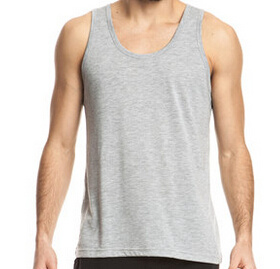 Heather Gray Bamboo Men′t Tank Tops pictures & photos