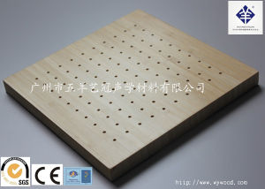 Natural Wood Veneer Micro-Perforated Sound Absobing Materials E16/3-10/15vftlce1) pictures & photos