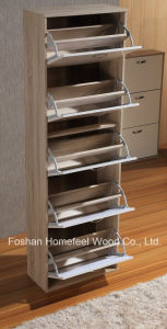 Modern High UV Gloss Wooden 5 Drawers Shoe Cabinet (XE51) pictures & photos
