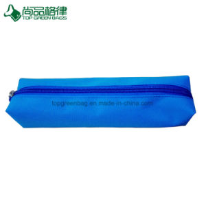 Popular Simple Custom Zipper Polyester Stationery Bags Pencil Case pictures & photos