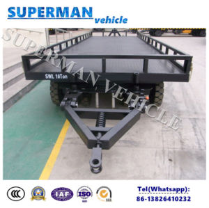 10t Utility Cargo Transport Double Towing Luggage Full Trailer pictures & photos