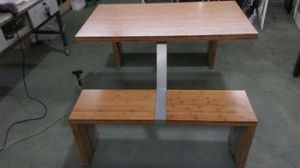 4seater Bamboo Restaurant Table with Bench pictures & photos