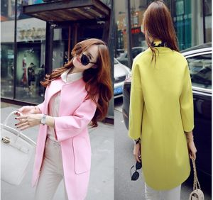 OEM 2015 High Quality Newest Fashion Ladies Trench Coat pictures & photos