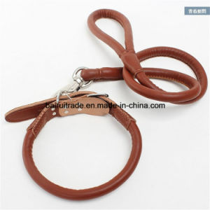 2016 High Quality Leather Rope Leash and Collar pictures & photos