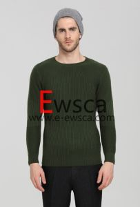 Ewsca Round Neck Super Fit Pure Cashmere Sweater pictures & photos