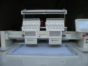 Wonyo 2 Heads Computerized Embroidery Machine 9/12 Colors pictures & photos