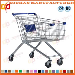 Metal Supermarket Shopping Trolley Cart on Wheels Traditional (Zht152) pictures & photos