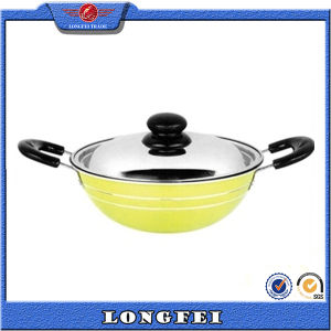 2015 Hot Selling Various Color Glass Lids Indian Wok pictures & photos