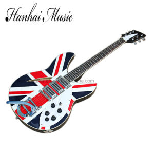 Hanhai Music / Ricken Style Electric Guitar with Flag Pattern pictures & photos
