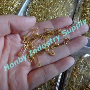 Garment Accessories 19mm Gold Color Hang Tag Safety Pin