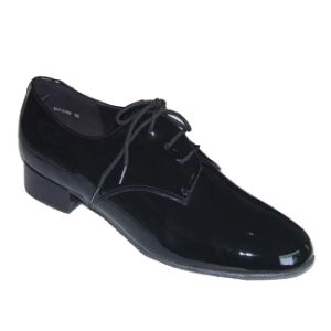 Black Patent Leather Men′s Ballroom Dance Shoes pictures & photos